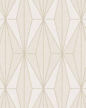 Novamur Giulia 82182 (6781-70) Geometrikus rombuszok kráém bézs világos arany tapéta