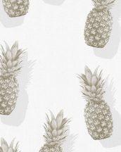 Novamur Giulia 82190 (6784-10) Natur trópusi ananászok fehér szürke ezüst arany tapéta