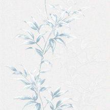 Novamur Hailey 82220 (6791-10) Natur realisztikus levélminta szürkésfehér szürke kék ezüst tapéta