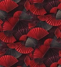 Casadeco Natsu 82228242 ORIMASU  fekete piros szürke falpanel