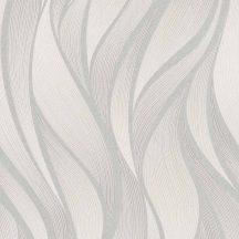 Novamur Hailey 82234 (6794-40) Grafikus design hullámminta krém bézs szürkésbézs fénylő mintarajzolat tapéta