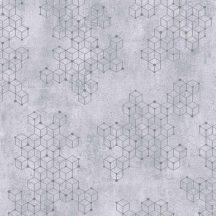 Novamur Hailey 82241 (6797-20) Natur Geometrikus Beton háttéren hatszögek kockák 3D szürke lilás szürke ezüst tapéta