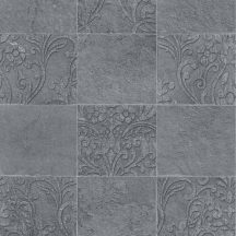 Novamur Hailey 82252 (6799-10) Natur Etno díszes csempeminta szürke árnyalatok ezüst antracit tapéta