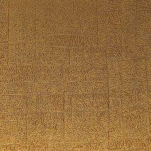 Casadeco Encyclopedia 82532307  CARRE LICHEN CURRY texturált négyzetbe rendezett zuzmó minta aranysárga tapéta