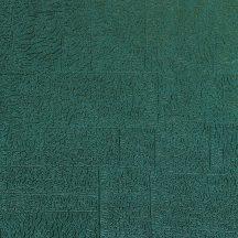 Casadeco Encyclopedia 82536202  CARRE LICHEN EMERAUDE texturált négyzetbe rendezett zuzmó minta smaragdzöld tapéta
