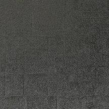 Casadeco Encyclopedia 82539515  CARRE LICHEN NOIR texturált négyzetbe rendezett zuzmó minta fekete tapéta