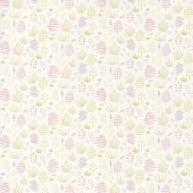 Casadeco Happy Dreams 82735206 ALL OVER JUNGLE PARME füvek krémfehér sárgászöld pink tapéta