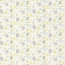 Casadeco Happy Dreams 82737308 ALL OVER JUNGLE VERT füvek krémfehér sárgászöld zöld barna tapéta