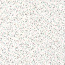 Casadeco Happy Dreams 82756213  LIBERTY BLUE/ROSE kis virágok krém kék rózsaszín korall tapéta