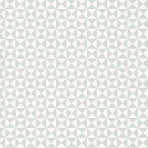 Casadeco Happy Dreams 82786118 ALL OVER GEOMETRIQUE BLUE grafikus krémfehér szürkéskék tapéta