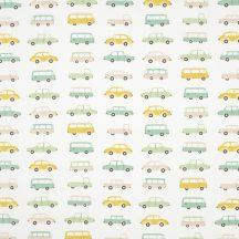 Casadeco Happy Dreams 82236312 ALL OVER VINTAGE CARS  BLUE dekoranyag