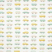 Casadeco Happy Dreams 82237215 ALL OVER VINTAGE CARS VERT dekoranyag