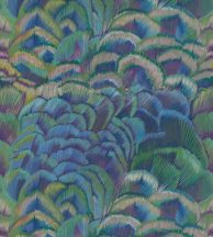 Casadeco Encyclopedia 83341466 PANORAMIQUE PLUMAE BLEU/VERT Natur pávatoll mintázat kék zöld lila árnyalatok falpanel