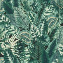 Rasch Denzo II 833942 Natur botanikus változatos levélminta fekete zöld árnyalatok fehér bézs tapéta