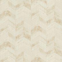 Rasch Perfecto V 834543 Grafikus nyíl mintázat ecru és arany árnyalatok tapéta