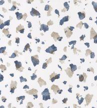 Casadeco Idylle 83866530 ONYX BLUE Natur művészi ábrázolású kőfal fehér kék fémes arany tapéta