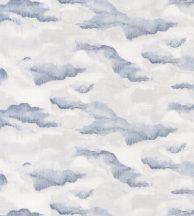 Casadeco Idylle 83876527  NUBIA BLUE Natur festői lebegő felhők fehér halvány szürke kék tapéta
