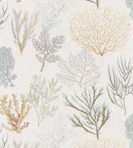 Casadeco Rivage 83972127 CORAIL Natur Különböző korallfajták megjelenítése törtfehér aranysárga kék szürke zöld tapéta