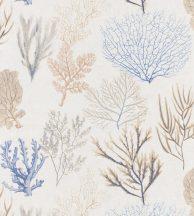 Casadeco Rivage 83976202 CORAIL Natur Különböző korallfajták megjelenítése krémfehér kék korallszín bézs sárgásbarna tapéta