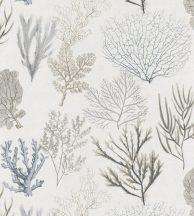 Casadeco Rivage 83979122  CORAIL Natur Különböző korallfajták megjelenítése törtfehér bézs kék szürke antracit tapéta