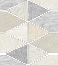 Casadeco Nova 84151409 STELLA COLOR Geometrikus pasztell bézs szürkésbarna fekete fehér tapéta