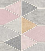 Casadeco Nova 84155208 STELLA COLOR Geometrikus pasztell rózsaszín bézs szürke árnyalatok fehér tapéta