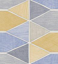 Casadeco Nova 84156422 STELLA COLOR Geometrikus pasztell kék sárga szürke fekete fehér tapéta