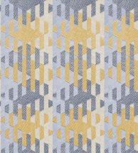 Casadeco Nova 84166414  CHEVRON Grafikus csíkok és formák mátrixa döbbenetes 3D hatás kék és sárga árnyalatok szürkésbézs tapéta