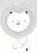 Rasch Bambino XVIII 842227 gyerekminta állati jól fésült oroszlánsörény fehér fekete palpanel