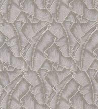 Casadeco Cuba 84321341 SELVA TAUPE Natur texturázott trópusi levelek sötét szürkésbézs csillogó fémes fény tapéta
