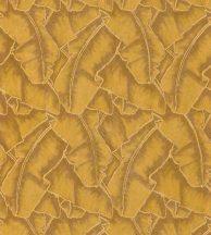 Casadeco Cuba 84322318 SELVA JAUNE Natur texturázott trópusi levelek meleg aranysárga barna csillogó fémes fény tapéta