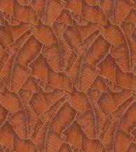Casadeco Cuba 84323328 SELVA ORANGE Natur texturázott trópusi levelek meleg narancs csillogó fémes fény tapéta