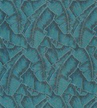 Casadeco Cuba 84326438 SELVA TURQUOISE Natur texturázott trópusi levelek telt türkiz csillogó fémes fény tapéta