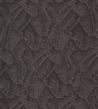 Casadeco Cuba 84329549 SELVA NOIR Natur texturázott trópusi levelek, fekete csillogó fémes fény tapéta