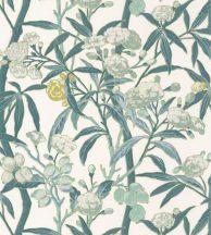 Casadeco Cuba 84337109 HABANA VERT FOND BLANC Natur egzotikus virágos szőlő fehér zöld szines tapéta