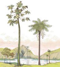Casadeco Cuba 84377454 PANORAMIQUE LAGUNA VERT festői trópusi lagúna fehér zöld szines falpanel