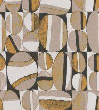 Casadeco Nangara NANG84382501 ANANGU JAUNE MOUTARDE et NOIR Etno Natur festett sziklák mustársárga bézs fehér fekete tapéta