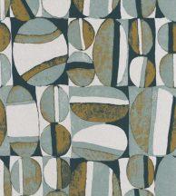 Casadeco Nangara NANG84387335 ANANGU BLUE/VERT/EMERAUDE Etno Natur festett sziklák kék zöld smaragd fehér tapéta
