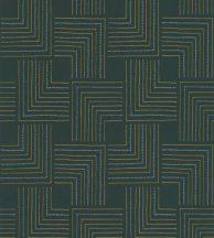 Casadeco Nangara NANG84397412 TINGARI VERT EMERAUDE Grafikus pont és vonalmintázat smaragdzöld fémes arany világoskék tapéta