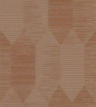 Casadeco Nangara NANG84403314 KIPARA CUIVRE Geometrikus textúrázott vonalakkal kialakított hatszög mozaik barna narancs rézszín tapéta