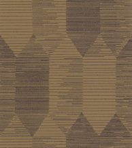 Casadeco Nangara NANG84406336 KIPARA BLEU et CAMELGeometrikus textúrázott vonalakkal kialakított hatszög mozaik teveszőrbarna sötétkék tapéta