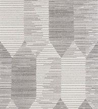 Casadeco Nangara NANG84409202 KIPARA NOIR et BLANC Geometrikus textúrázott vonalakkal kialakított hatszög mozaik fekete fehér tapéta