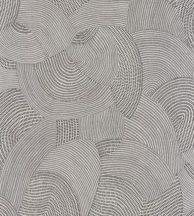 Casadeco Nangara NANG84410409 TJALA BLANC et NOIR Grafikus ősi kavargó etno minta fekete fehér tapéta