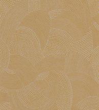 Casadeco Nangara NANG84412315 TJALA JAUNE MOUTARDE Grafikus ősi kavargó etno minta szürkésfehér mustársárga tapéta