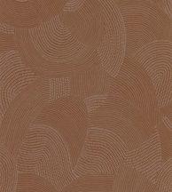 Casadeco Nangara NANG84413328 TJALA CUIVREGrafikus ősi kavargó etno minta meleg rézszín árnyalatok tapéta