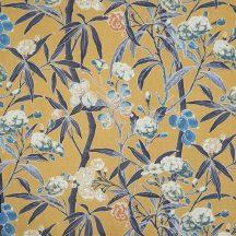 Casadeco Cuba 84462484 TISSU HABANA JAUNE sárga kék fekete textil