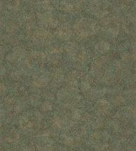 84517323 FOSSILIUM VERT Natur őskori növényi kövület telt zöld fémes arany tapéta