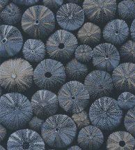 ACHINOS BLUE Natur mélytengeri világ tengeri sünök fekete fémes kék és arany tapéta