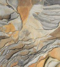 PANORAMIQUE GEOLOGIA OCRE Rusztikus sziklafal szürke barna okkersárga falpanel