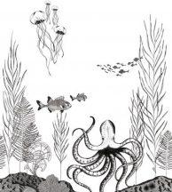 PANORAMIQUE NAUTICS FIG 1 NOIR et BLANC Víz alatti világ fehér fekete falpanel